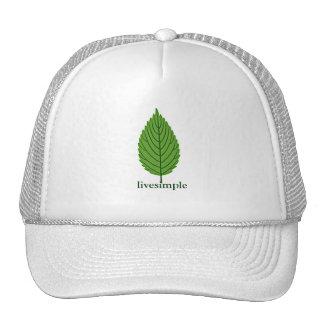 Single Leaf Live Simple Trucker Hat