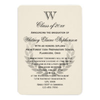 Single Letter Monogram Classic College Graduation Card