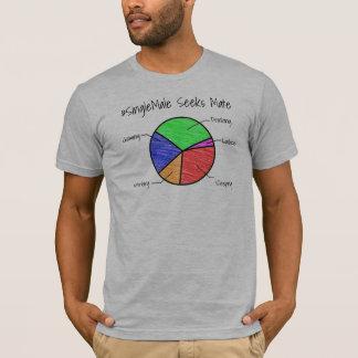 Single Male Seeks Mate Personalized Pie Chart T-Shirt