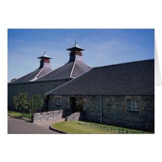 Single malt scotch distillery greeting card