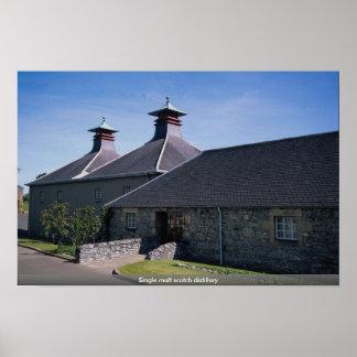 Single malt scotch distillery print