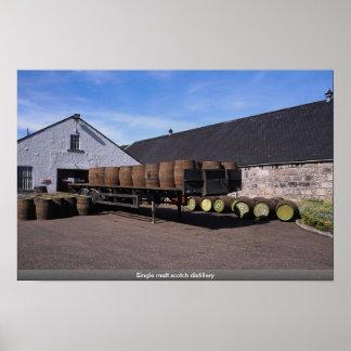 Single malt scotch distillery poster
