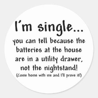 single_man classic round sticker