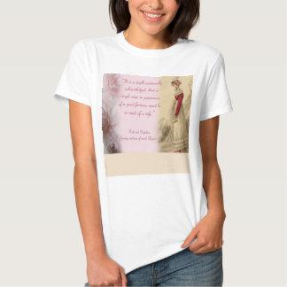 Single Man, Pride and Prejudice Jane Austen T Shirt