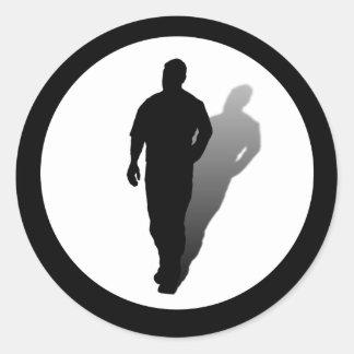 Single Man Silhouette Stickers