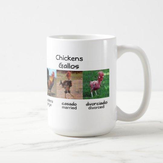 Single Married Divorced Chickens Coffee Mug
