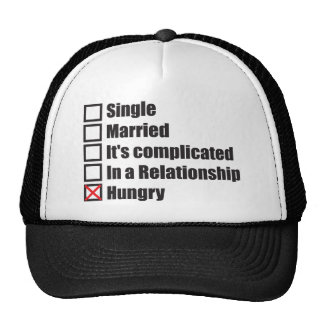 Single, Married, Hungry - Funny Novelty Trucker Hat