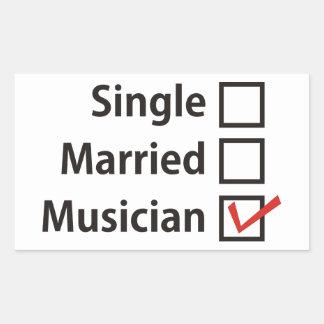 Single-Married-Musician sticker