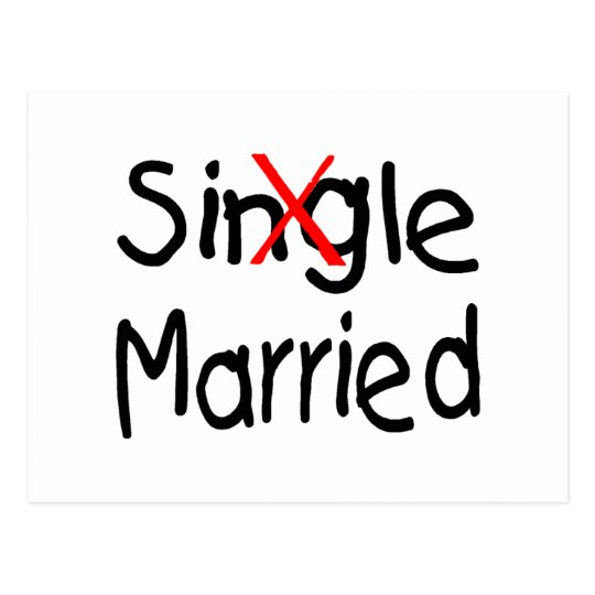 Single (Married) Postcard