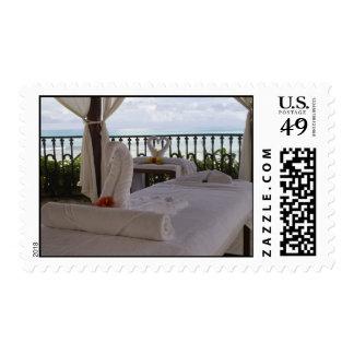 Single Massage Table Postage Stamp