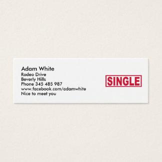 Single Mini Business Card