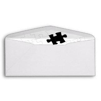 Single Missing Piece Puzzle Design Envelope