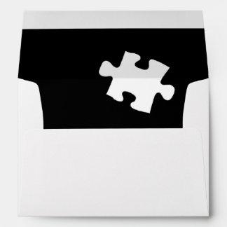 Single Missing Puzzle Piece Design Envelope