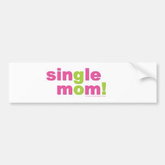 Single Mom Love by MDillon Designs Car Bumper Sticker