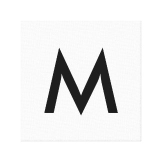 Single Monogram Canvas Print