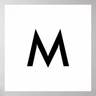 Single Monogram Poster