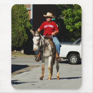 single mule in parade mouse pad