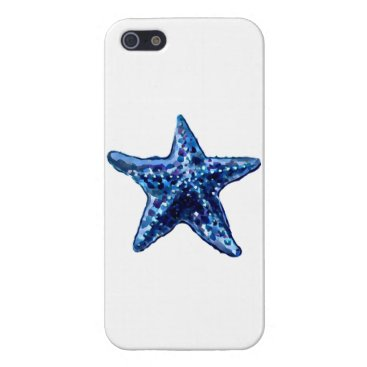 Beach Themed Single Navy Blue Starfish Cover For iPhone SE/5/5s
