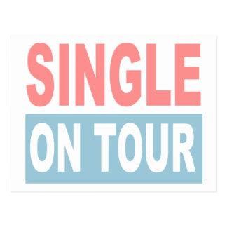 Single on tour postcard