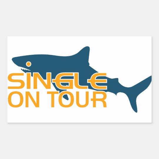 Single on Tour Rectangular Sticker