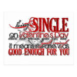 Single on Valentine's Day Postcards