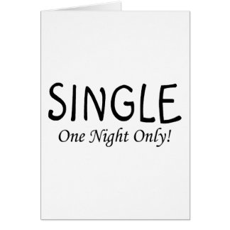 Single One Night Only Card