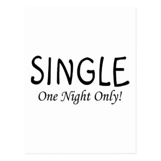 Single One Night Only Post Card