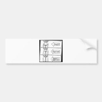 Single or Married Woman Bumper Sticker