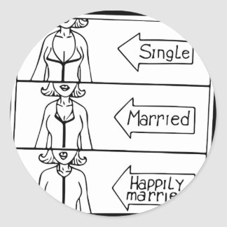 Single or Married Woman Classic Round Sticker