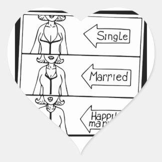 Single or Married Woman Heart Sticker