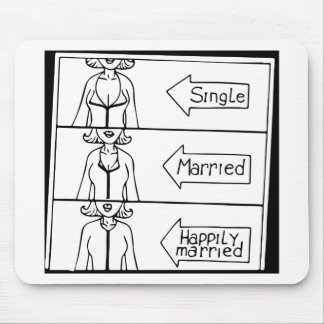 Single or Married Woman Mouse Pad