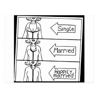 Single or Married Woman Postcard