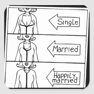 Single or Married Woman Square Sticker