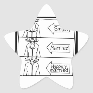 Single or Married Woman Star Sticker