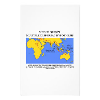 Single Origin Multiple Dispersal Hypothesis Stationery