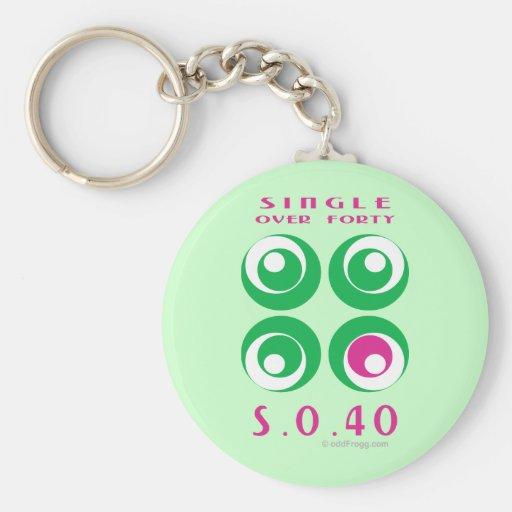 Single Over 40 (So40) Keychain