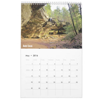 Single Page, Medium Calendar - Hocking Hills 2016