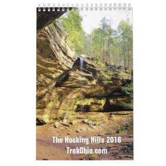 Single Page, Small Calendar - Hocking Hills 2016