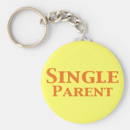 Single Parent Gifts Basic Round Button Keychain