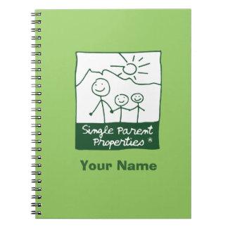 Single Parent Properties Spiral Notebook