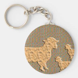 Single Parent SHEEP N baby sheep Key Chains