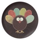 Single Patchwork Thanksgiving Turkey Dinner Plate