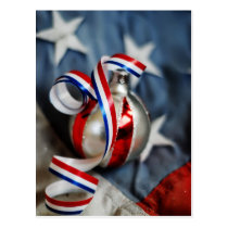 Single Patriotic Ornament Postcard