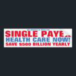 "SINGLE PAYER HEALTH CARE NOW! BUMPER STICKER<br><div class=""desc"">Sen. Bernie Sanders : (March 27, 2017) &quot;We have got to end the international disgrace of being the only major country on earth not to guarantee healthcare to all people as a right not a privilege, &quot; Sanders (I-Vt.) told the 1, 000-strong audience in Hardwick, Vermont, where he appeared alongside...</div>"