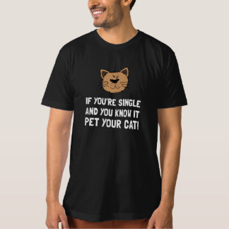 Single Pet Cat T-shirt