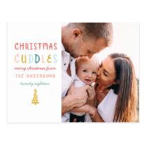 Single photo cute family or pet holiday design. postcard
