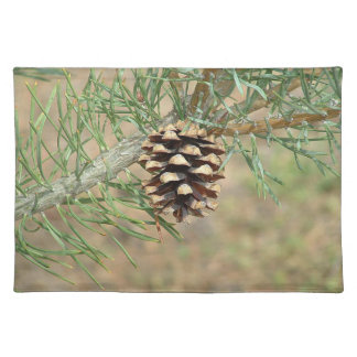 Single Pine Cone Placemat