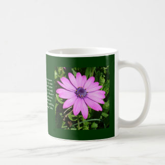 Single Pink African Daisy Against Green Foliage Mugs