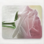 Single Pink Rose Basics Mouse Pads