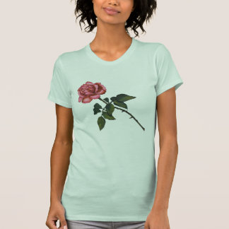 Single Pink Rose: Color Pencil Drawing T Shirt
